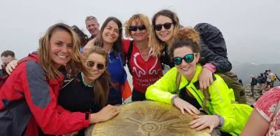 Lynn's Team @ Snowdon Summit
